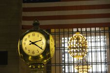 Free Grand Central Station Clock Stock Photography - 34807042