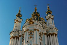 Free St Andrew S Church, Kiev Royalty Free Stock Images - 34807069