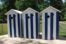 Free Beach Cabins Royalty Free Stock Image - 34809026