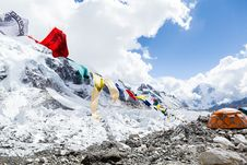 Free Everest Base Camp And Tent Stock Images - 34822724