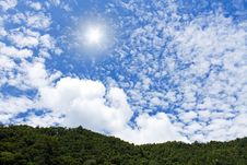 Free The Sun And Clouds Royalty Free Stock Photography - 34824837