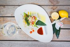 Steamed Fillet Of Sea Bass Royalty Free Stock Image