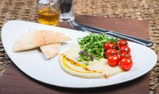 Free Plate With Hummus Dip And Tapas Stock Photos - 34826063