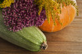 Free Still Life Of Squash, Pumpkins And Flowers Royalty Free Stock Photos - 34837938
