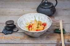 Free Udon With Fried Chicken And Vegetables Stock Photos - 34832063