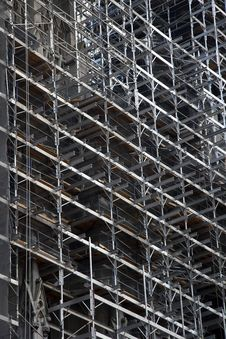 Free Scaffold Background Royalty Free Stock Photo - 34833755