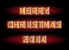Free Merry Christmas 2014 Royalty Free Stock Photo - 34835755
