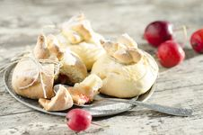 Free Paradise Apples Baked In Pastry, In Shape Of Bags Stock Photography - 34840102