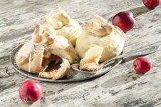 Free Paradise Apples Baked In Pastry, In Shape Of Bags Royalty Free Stock Images - 34840139