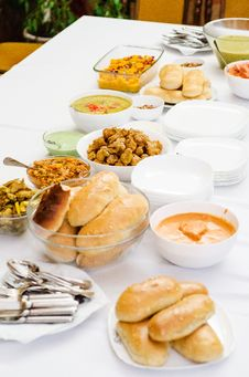 Indian Food Party Stock Image