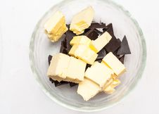 Chocolate And Butter Stock Photo