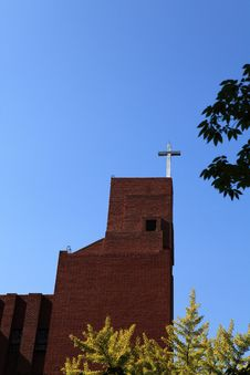 Free The Cross Of The Church Under The Blue Sky Stock Image - 34849141