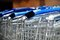 Free Row Of Metal Shopping Carts In A Supermarket Stock Image - 34840081