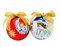 Free Decorated Christmas Tree Balls With Golden Ribbon Stock Images - 34841194