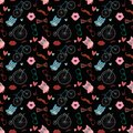 Free Hipster Doodles Colorful Seamless Pattern Stock Photos - 34853733