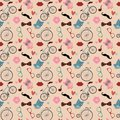 Free Hipster Doodles Colorful Seamless Pattern Royalty Free Stock Photos - 34853828