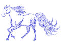 Free Silhouette Of A Horse In The Snow Flakes Stock Photo - 34859510