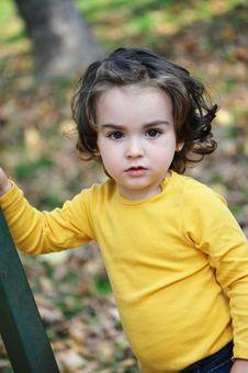Free Little Boy In Autumn Park Stock Photos - 34850443