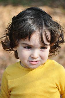 Free Little Boy In Autumn Park Stock Photos - 34851703