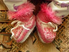 Free Baby Bootees Royalty Free Stock Photos - 34852468