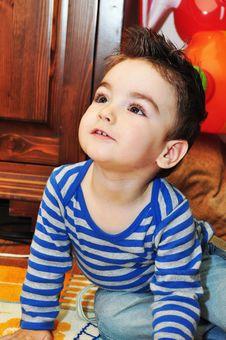 Free Cute Little Boy Portrait Stock Images - 34854054