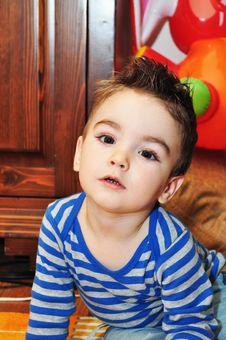 Free Cute Little Boy Portrait Royalty Free Stock Photography - 34854117