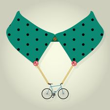 Free Hipster Collar With Chain Bicycle Accessory Stock Image - 34854261
