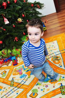 Free Cute Little Boy Portrait Stock Photography - 34854272
