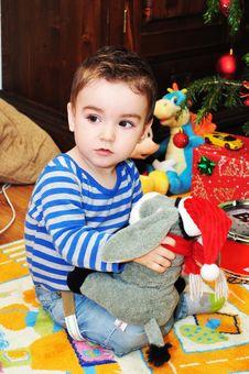 Free Cute Little Boy Portrait Royalty Free Stock Photography - 34854327