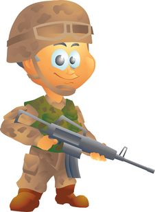 Free Army Soldier Stock Photos - 34855173