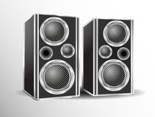 Free Loudspeakers Royalty Free Stock Photo - 34855725