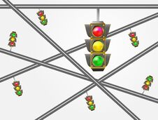 Free Traffic Light Stock Photography - 34855852