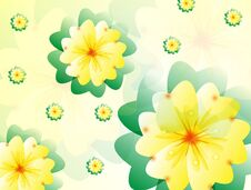Free Flowers Yellow Royalty Free Stock Photo - 34857695