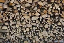 Free Firewood With A Small Parts Stock Image - 34857761