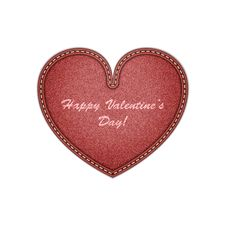 Free Denim Heart. Realistic Vector . Eps10 Royalty Free Stock Images - 34857769