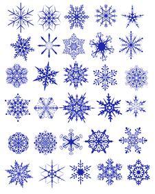 Free Snowflakes Royalty Free Stock Photos - 34858468
