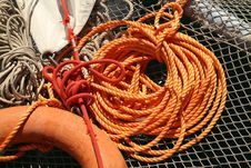 Free Orange Rope Royalty Free Stock Photo - 34859265