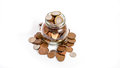 Free Coins Overflowing From Money Jar Stock Photography - 34861992