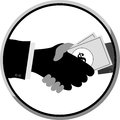 Free Shakehand And Give A Money To Other Hand Stock Images - 34869774