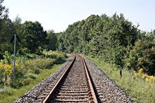 Free Rail Track Royalty Free Stock Photography - 34860797