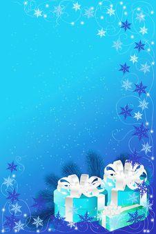 Free Blue Christmas Background Stock Image - 34861951