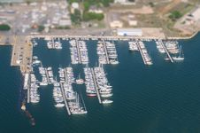 Free Aerial View Of Yachts. Stock Photography - 34863262
