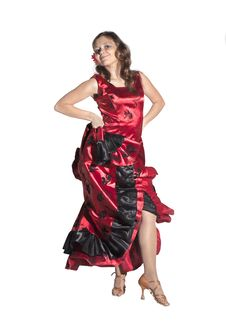 Free Young Woman Dancing Flamenco Royalty Free Stock Photos - 34870548