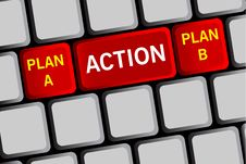 Plan A Plan B Stock Image