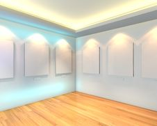 Free Empty Room White Gallery Royalty Free Stock Images - 34875589
