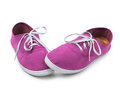 Free Shy Pink Sneakers Isolated Royalty Free Stock Photography - 34882077