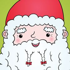 Free Santa Claus Face Portrait Royalty Free Stock Images - 34881969