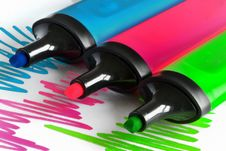 Free Colored Markers Stock Photography - 34882462