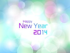 Free Happy New Year 2014 Colorful Flare Light Background Royalty Free Stock Images - 34882839