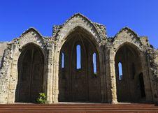 Free Basilica Ruins, Rhodes. Royalty Free Stock Image - 34885786